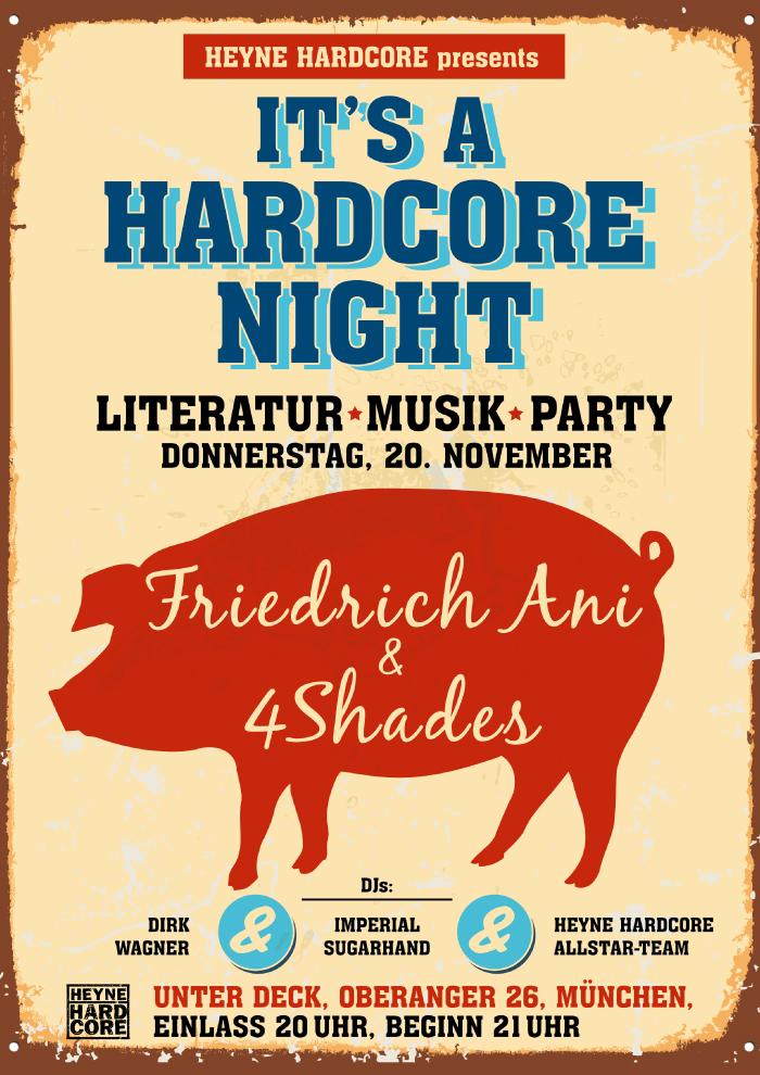 It's a Hardcore Night mit Friedrich Ani
