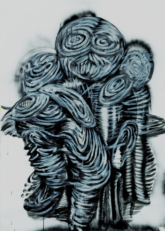 Dashdemed Sampil, Papierfiguren, 2014