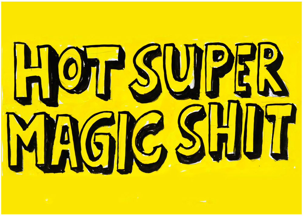 Jan Bräumer, Hot Super Magic Shit, 2018, Tusche auf Papier, ca. 20 x 30 cm, Courtesy the artist, Foto: Christian Dümmler, © VG Bild-Kunst Bonn, 2018
